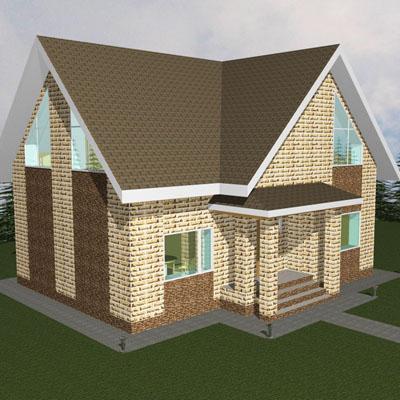 проект небольшого дома из пеноблоков
