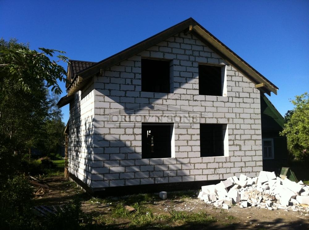 Построить дом своими руками проекты фото из пеноблока