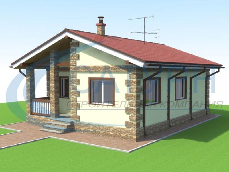 Строительство одноэтажного дома из пеноблока своими руками 225